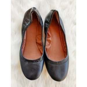 Lucky Brand black leather ballet flats